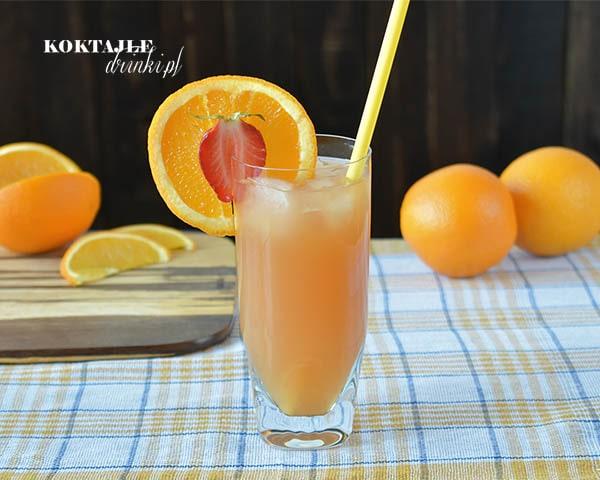 Pomarańczowy drink z wódką, Mistolin w otoczeniu pomarańczy na drugim planie.
